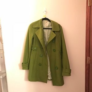 Jackets & Blazers - Lime Green Peacoat